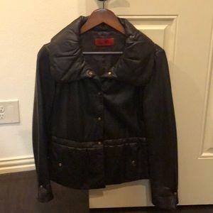 Original Carolina Herrera brown leather jacket